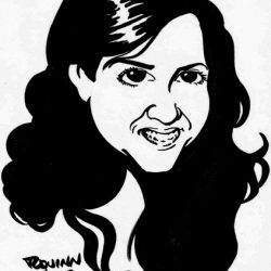 Caricature with Tom Quinn