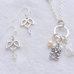 Lotus Necklace & Earrings with Sondra Barrington
