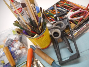 Bigs and Littles: Art making play date for parents and kids (or grandparents/friends) with Karen Mobley - SOLD OUT