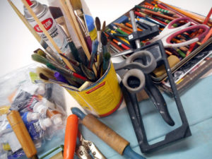 Bigs and Littles: Art making playdate for parents and kids (or grandparents/friends) with Karen Mobley